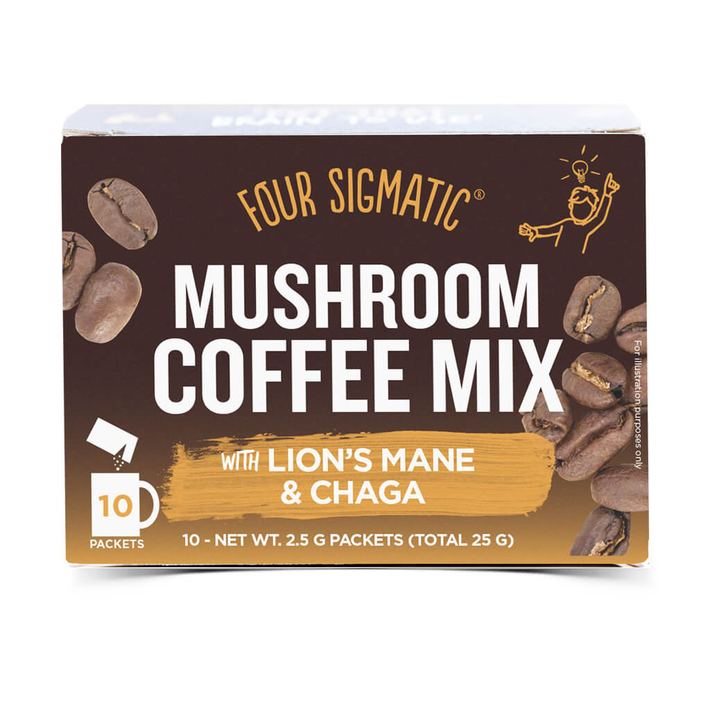 Mushroom Coffee Mix with Lion's Mane & Chaga i förpackning.