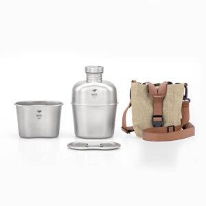 Keith Titanium Canteen Mess Kit med tygväska.