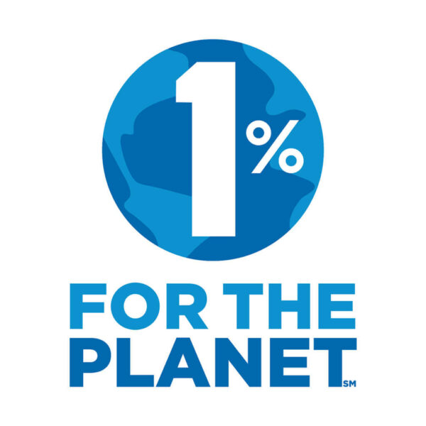 1 percent for the planet logo.