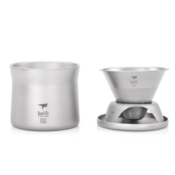 Keith - Titanium Mini Coffee And Tea Maker (kaffebryggare).
