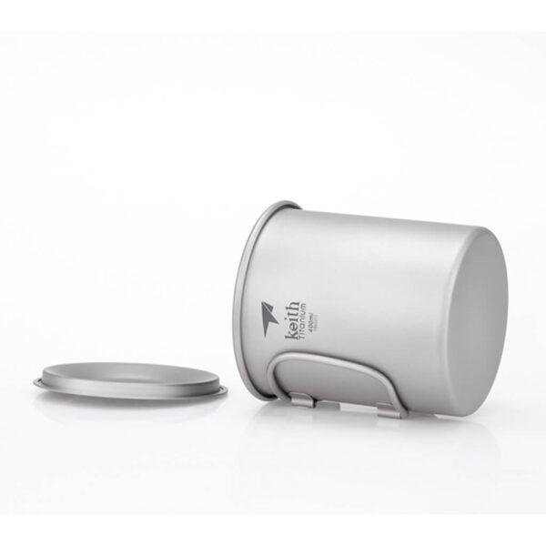 Keith Titanium Mug With Lid 400 ml.