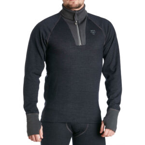 Termo Original 2.0 Roll Neck With Zip svart underställströja av tencel.