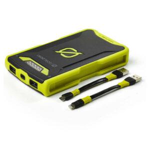 GoalZero Venture 70 17700 mAh Powerbank med Micro och Lighting kablar.