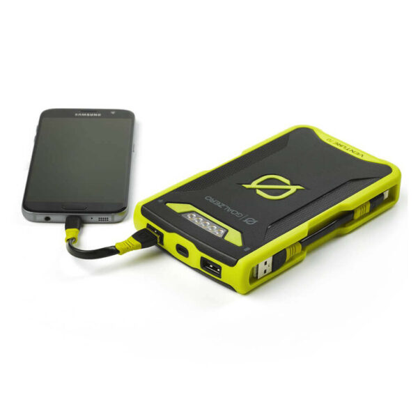 GoalZero Venture 70 17700 mAh Powerbank med Micro och Lighting kablar.