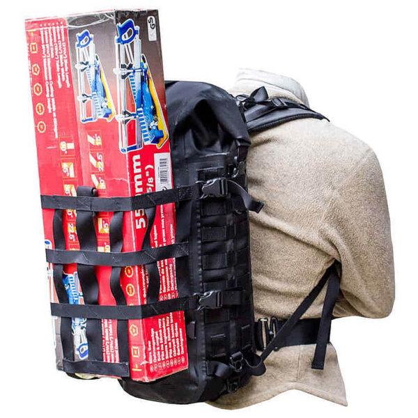 HPA Waterproof Backpack Molledry 40 liter vattentät taktiskt ryggsäck med External Carrying Harness bärsele.