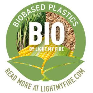 Biobased Plastics - BIO by Light My Fire logotyp.