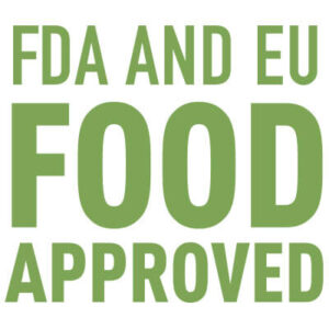 FDA and EU food approved logotyp.