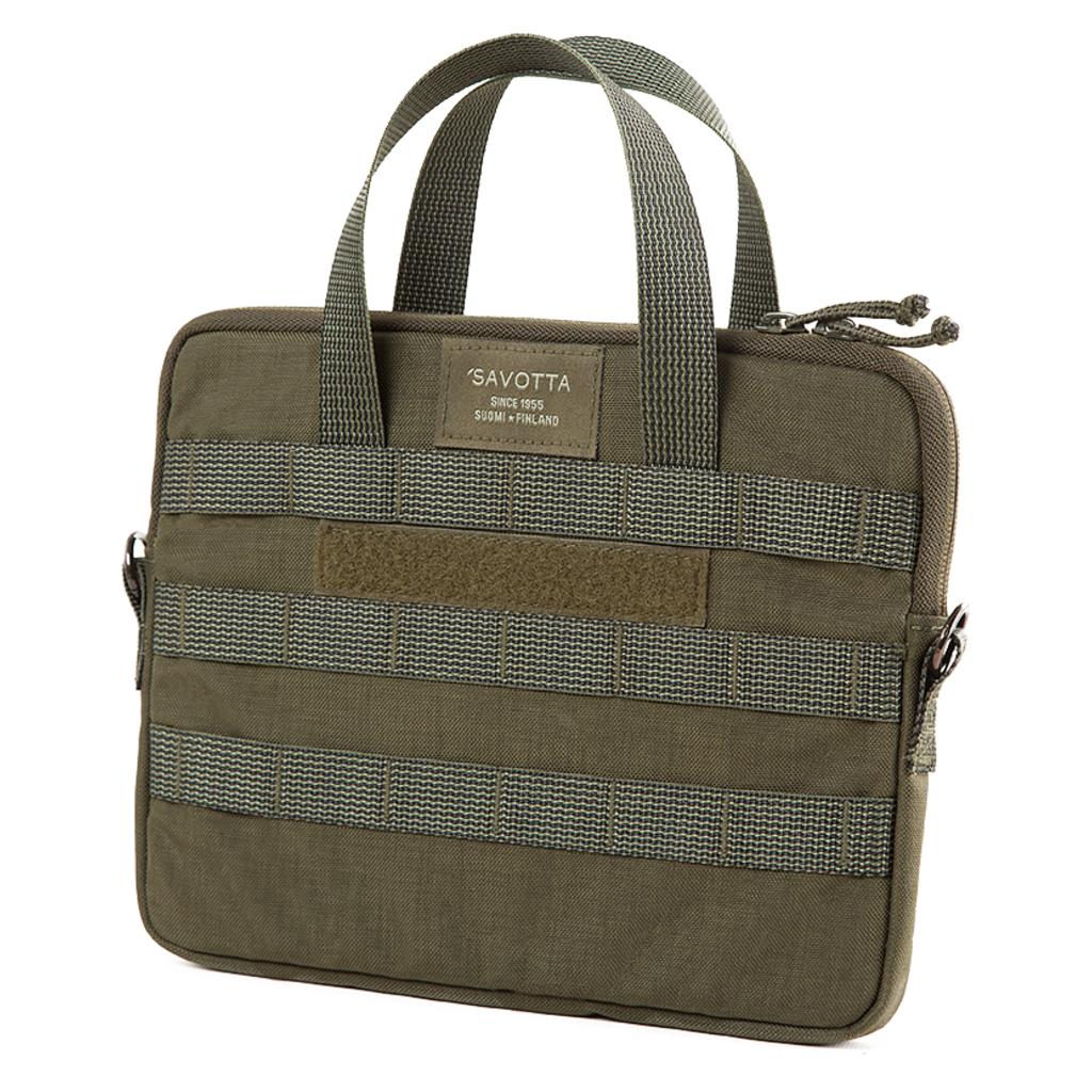 Savotta Alc Pro 11 tum grön väska med Molle / Pals för laptop eller iPad.